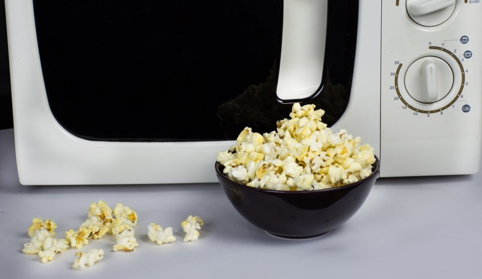 Microwave with Popcorn
